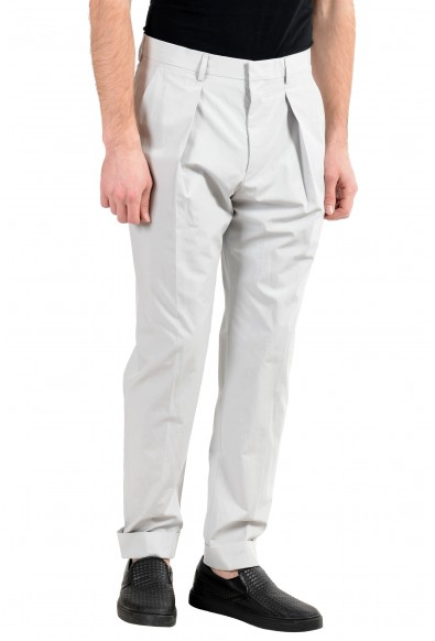 """Hugo Boss """"Ole"""" Men's Ivory Pleated Casual Pants: Picture 2"""