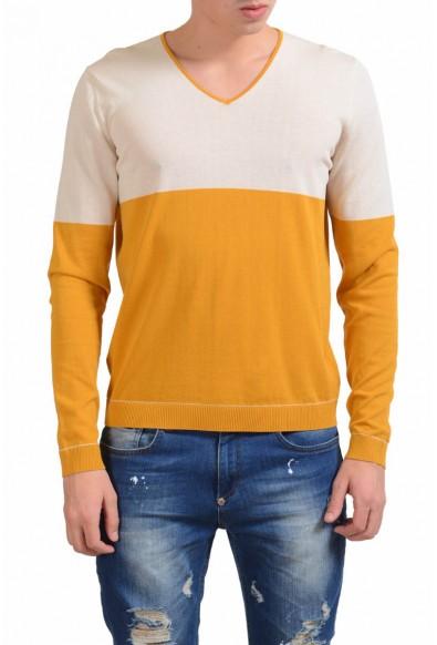 Malo Men's V-Neck Light Multi-Color Sweater