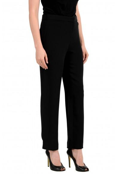 Versace Women's Black Flat Front Pants: Picture 2