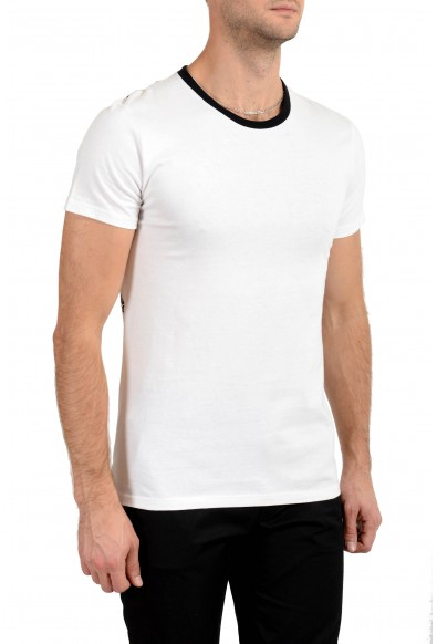 Just Cavalli Men's White & Black Graphic T-Shirt : Picture 2
