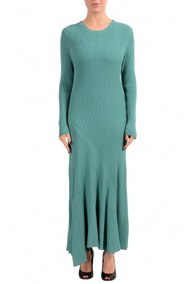 "Hugo Boss ""Fanah"" Women's Knitted Ribbed Long Sleeve Maxi Dress"