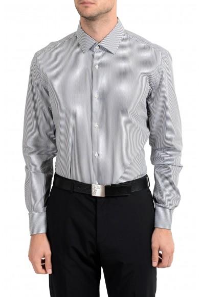 "Hugo Boss ""Jenno"" Men's Striped Slim Fit Stretch Long Sleeve Dress Shirt"