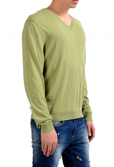 Malo Men's V-Neck Light Pullover Green Sweater: Picture 2