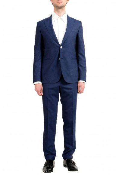 "Hugo Boss ""Novid/Bristow"" Men's 100% Wool Blue Slim Two Button Suit"