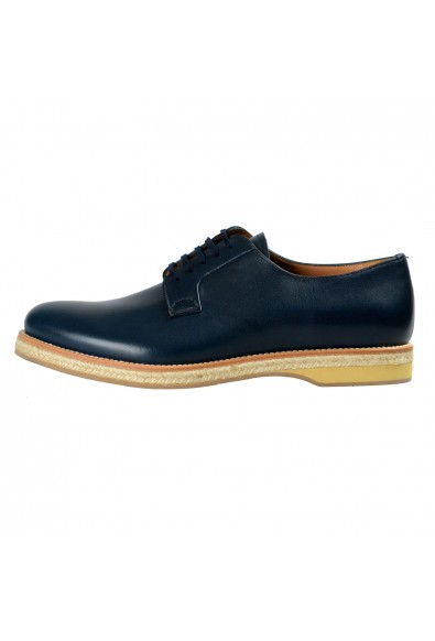 Prada Men's Blue Leather Casual Oxfords Shoes: Picture 2