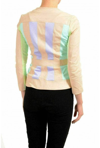 Just Cavalli 100% Leather Trim Multi-Color Women's Basic Jacket: Picture 2