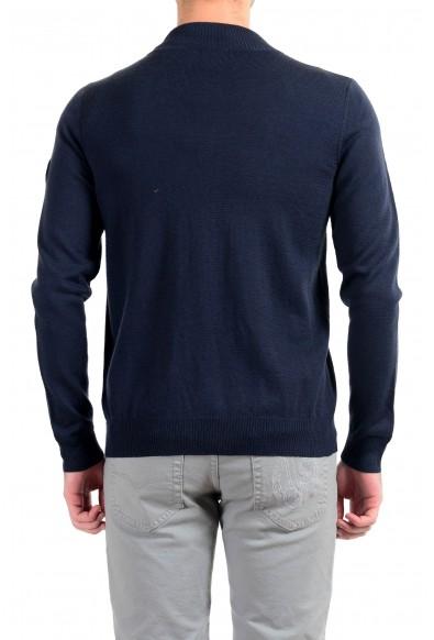 "Emporio Armani EA7 ""Ski"" Men's Dark Blue 100% Wool Full Zip Sweater: Picture 2"