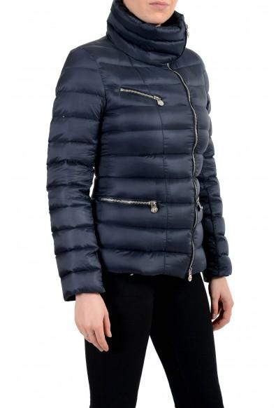 Versace Women's Blue Down Zip Up Bomber Parka Jacket : Picture 2
