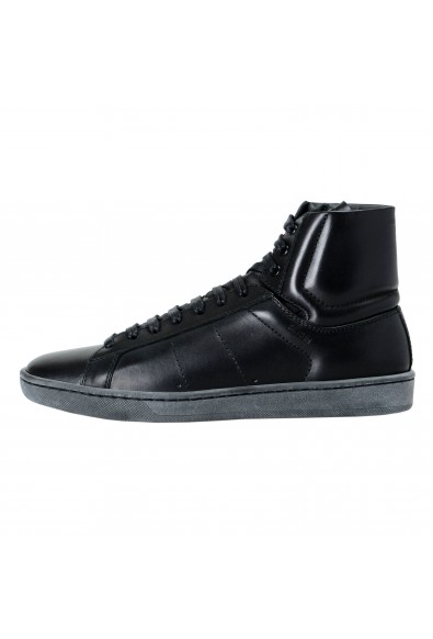 Saint Laurent Women's Leather High Top Fashion Sneakers Shoes : Picture 2
