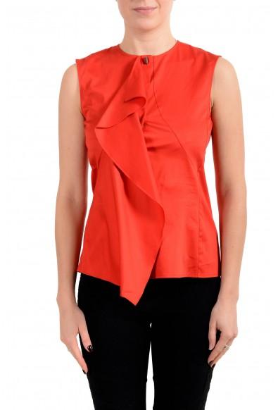 """Hugo Boss Women's """"Basenia"""" Red Sleeveless Blouse Top"""