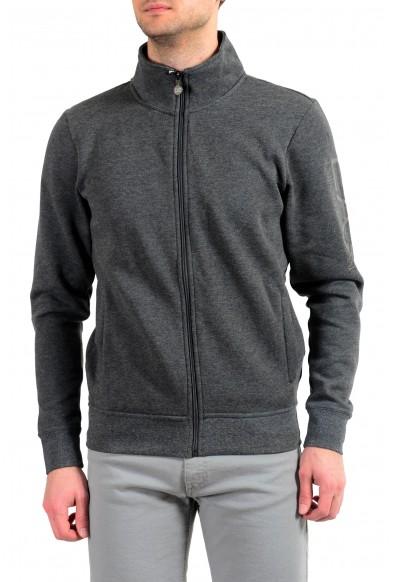 """Emporio Armani EA7 """"Train Big"""" Men's Gray Fleece Full Zip Track Jacket"""