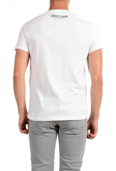 "Roberto Cavalli ""Beachwear"" Men's White Graphic Print T-Shirt: Picture 2"