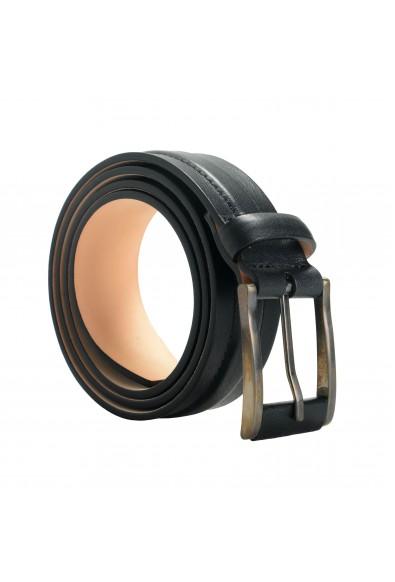 Giorgio Armani Men's 100% Leather Black Buckle Belt
