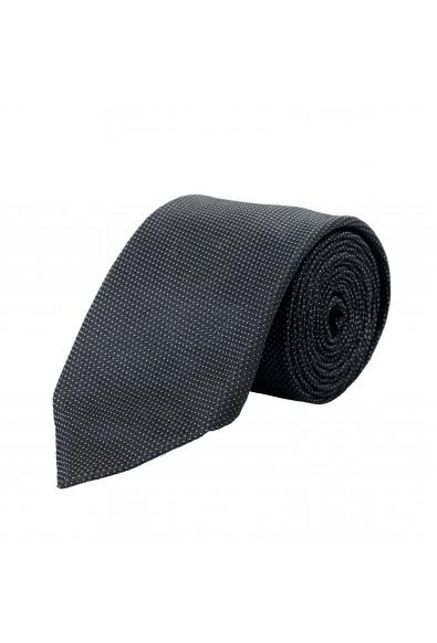 Hugo Boss Men's Black Geometric Print 100% Silk Tie