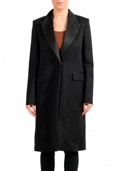 "Hugo Boss Women's ""Cotedo"" Black 100% Wool Coat"
