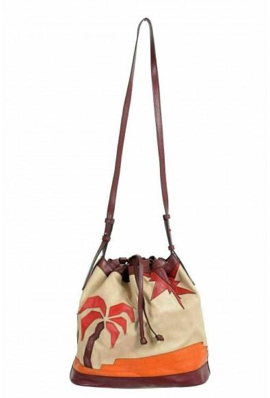 Just Cavalli Leather Multi-Color Embellished Drawstring Women's Shoulder Bag