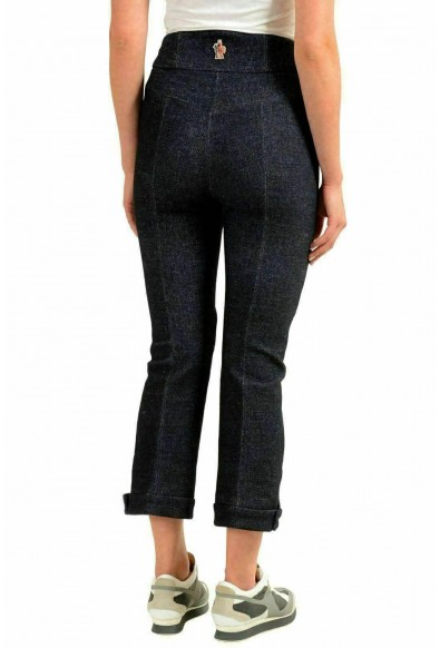 Moncler Women's Wool Dark Blue Cropped Casual Pants: Picture 2