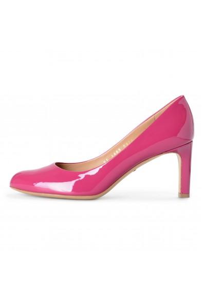 "Salvatore Ferragamo Women's ""Leo"" Sangria Patent Leather High Heel Pumps Shoes: Picture 2"