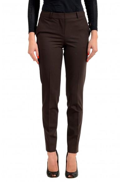 "Hugo Boss Women's ""Tiluna11"" Brown Wool Dress Pants"