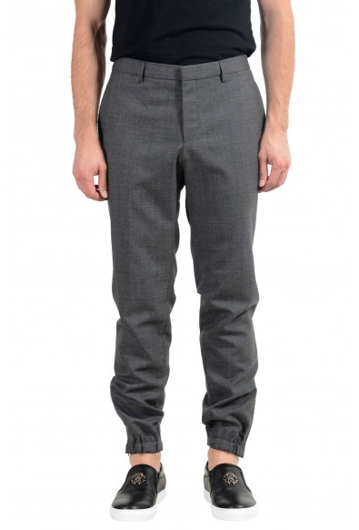 "Hugo Boss ""Bret"" Men's 100% Wool Gray Casual Pants"
