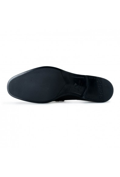 Versace Men's Black Leather Loafers Slip On Shoes: Picture 2