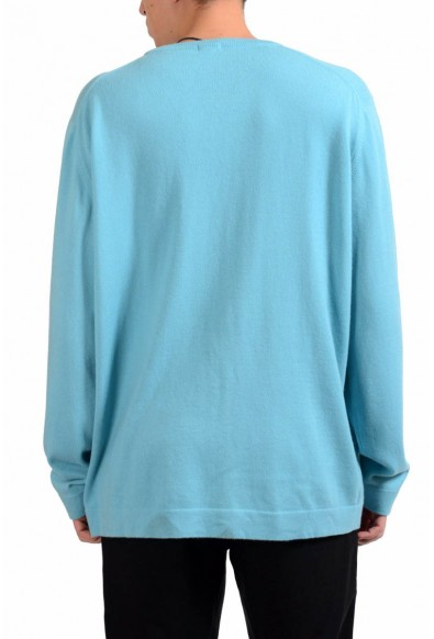 Malo Men's Turquoise 100% Cashmere Crewneck Pullover Sweater: Picture 2