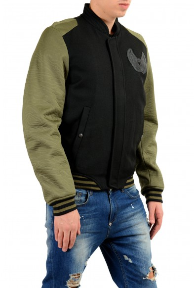 Just Cavalli Men's Wool Two Tones Full Zip Bomber Padded Jacket : Picture 2