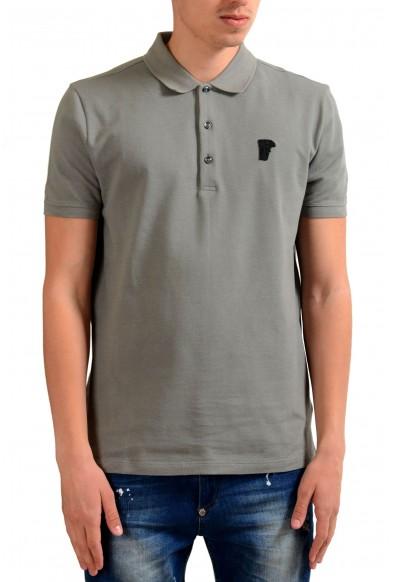 Versace Collection Men's Gray Short Sleeves Polo Shirt