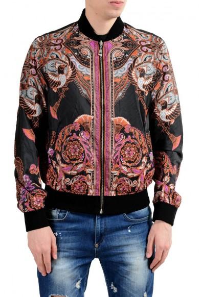 Versace Collection Men's Reversible Full Zip Windbreaker Jacket