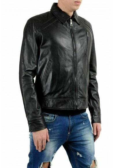 Just Cavalli Men's 100% Leather Black Full Zip Jacket: Picture 2