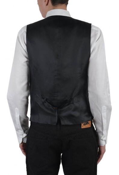 Dolce & Gabbana Men's Gray Wool Silk Vest: Picture 2