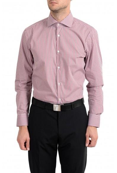"Hugo Boss ""Miles US"" Men's Plaid Stretch Sharp Fit Long Sleeve Dress Shirt"