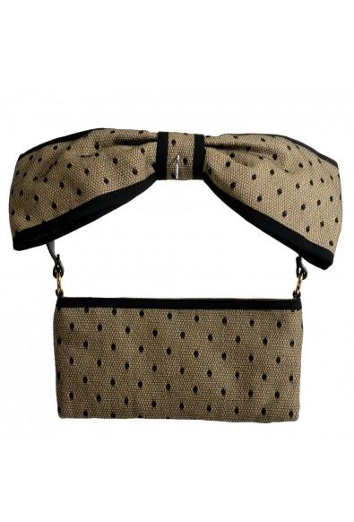 Red Valentino Women's Beige & Black Canvas Shoulder Bag Clutch