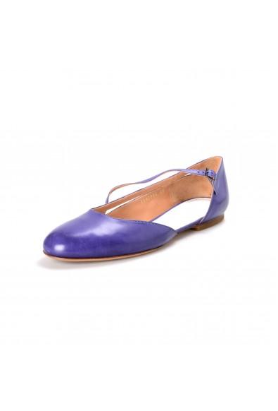 Maison Margiela Women's Purple 100% Leather Ballet Flats Shoes
