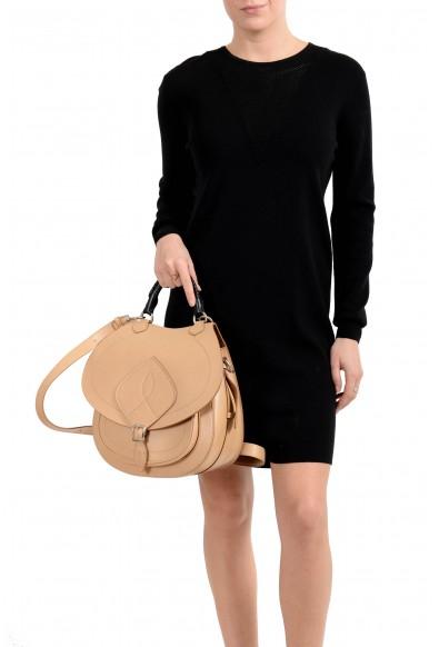 Maison Margiela Women's Brown Leather Saddle Handbag Backpack Shoulder Bag: Picture 2
