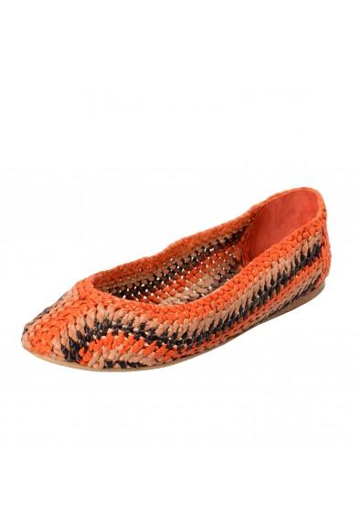 Prada Women's Multi-Color Canvas Ballet Flats Shoes