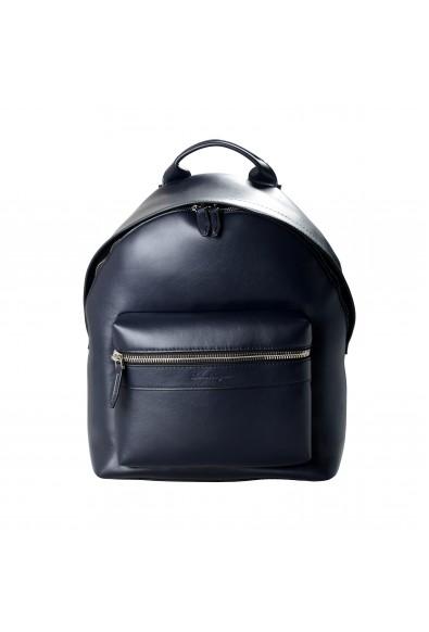 Salvatore Ferragamo Unisex Blue Leather Large Backpack Bag