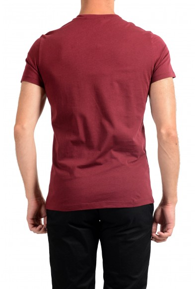 Roberto Cavalli Men's Red Graphic Print Crewneck T-Shirt: Picture 2