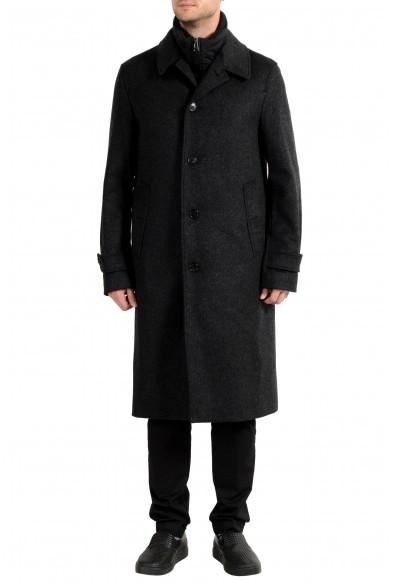 Burberry Men's LENTHORNE Gray Wool Cashmere Button Down Coat & Vest