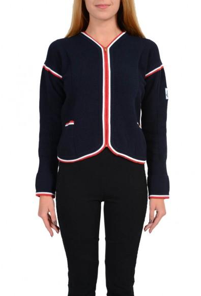Moncler Gamme Bleu Women's Full Zip Knitted Cardigan Sweater Jacket