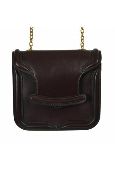 Alexander Mcqueen Women's Vine Red Leather Shoulder Bag: Picture 2