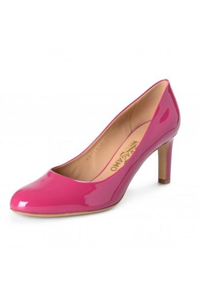 "Salvatore Ferragamo Women's ""Leo"" Sangria Patent Leather High Heel Pumps Shoes"