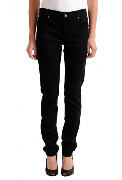 Versace Jeans Black Straight Legs Women's Jeans