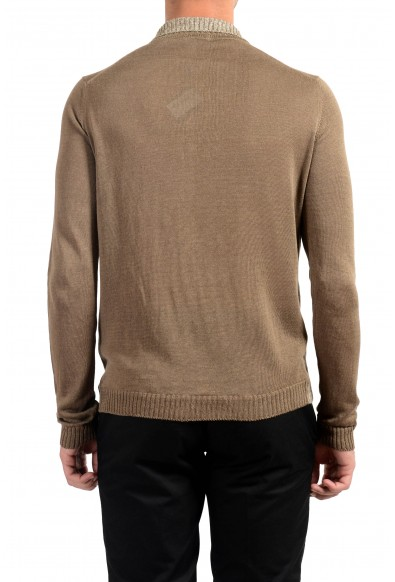 Malo Men's 100% Linen Cardigan Light Sweater: Picture 2
