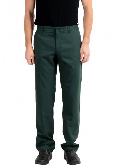 """Hugo Boss """"Hakan 9-1"""" Men's Green Slim Casual Pants"""