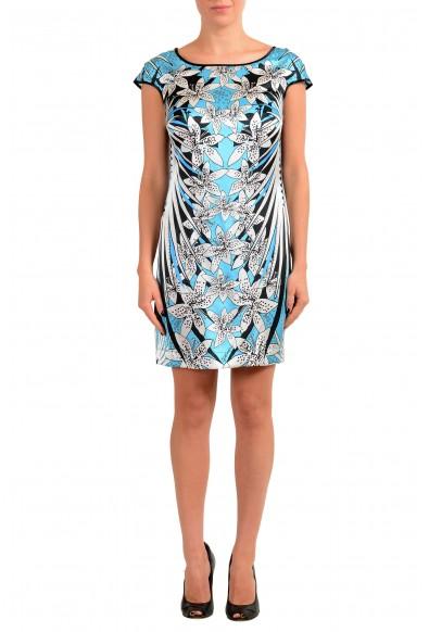 Just Cavalli Women's Multi-Color Floral Print 100% Silk Shift Dress