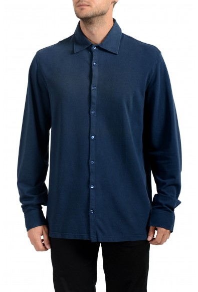 Malo Men's Dark Blue Long Sleeve Casual Shirt