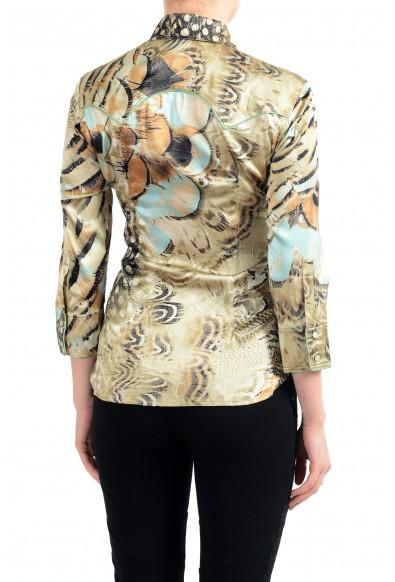 Roberto Cavalli Women's Multi-Color Silk 3/4 Sleeve Blouse Top: Picture 2