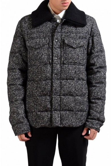 Dolce & Gabbana Men's Wool Goose Down Parka With Detouchable Collar