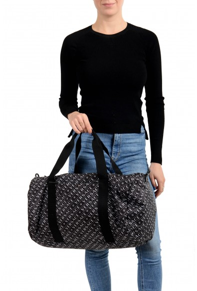 Versace Unisex Black & White Logo Duffle Handbag Bag: Picture 2